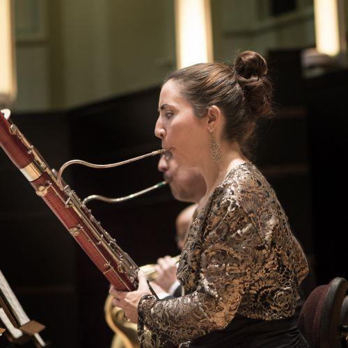Gina Playing bassoon