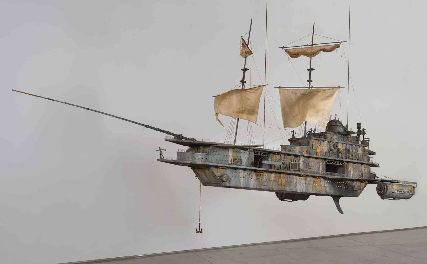 Michael C. McMillen. The Pequod II, 1987. Wood and metal kinetic assemblage. Peabody Essex Museum, Gift of Michael and Lauren McMillen, in memory of James Doolin. © Michael C. McMillen. Courtesy of L.A. Louver, Venice, CA.