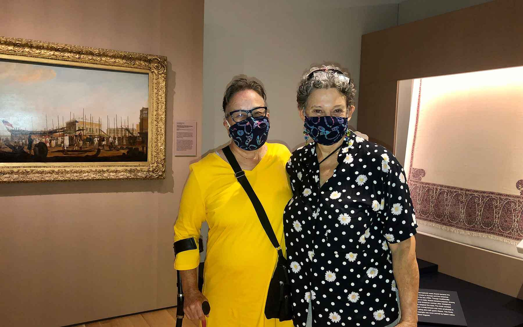 Jennifer Bottomley and Jennifer Buchwald take a close look at pieces inside the new Asian Export art gallery.