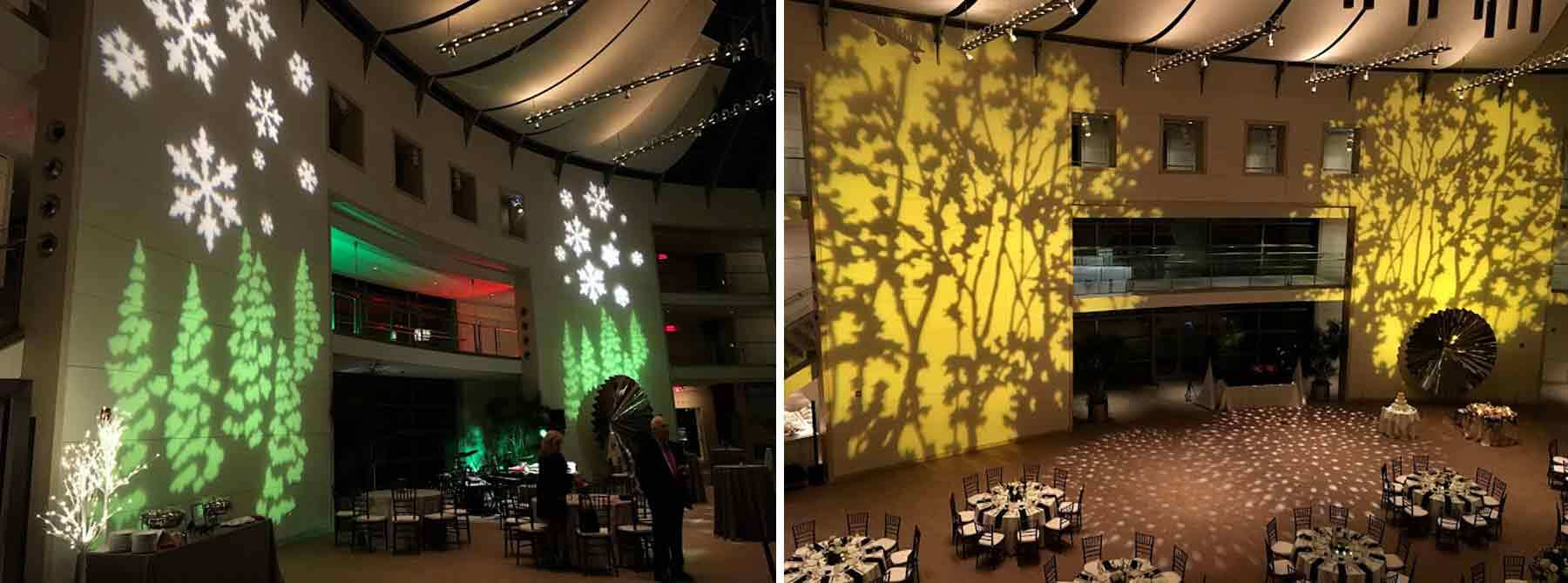 Henry Rutkowski creates the theatrical lighting for PEM events setting the mood for galas, weddings, performances, and holidays. Photos by Henry Rutkowski