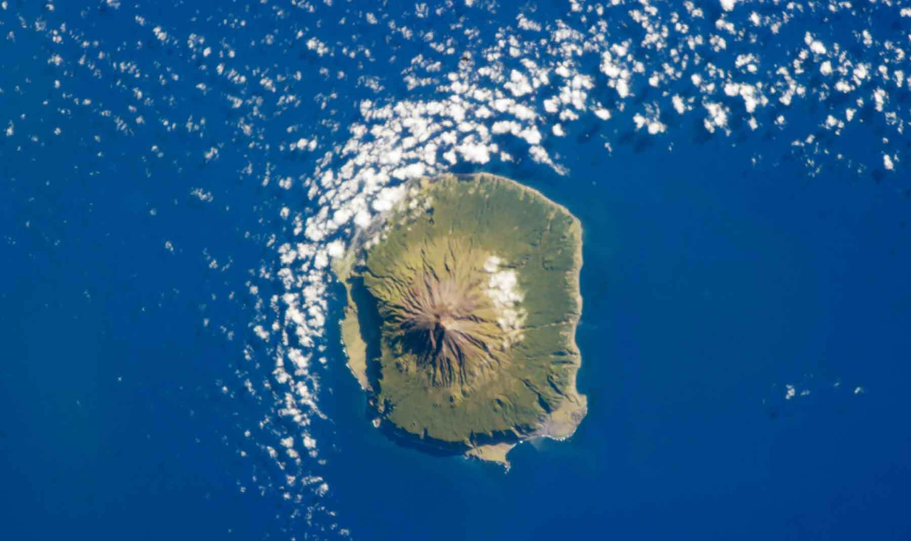 Tristan da Cunha from the International Space Station.