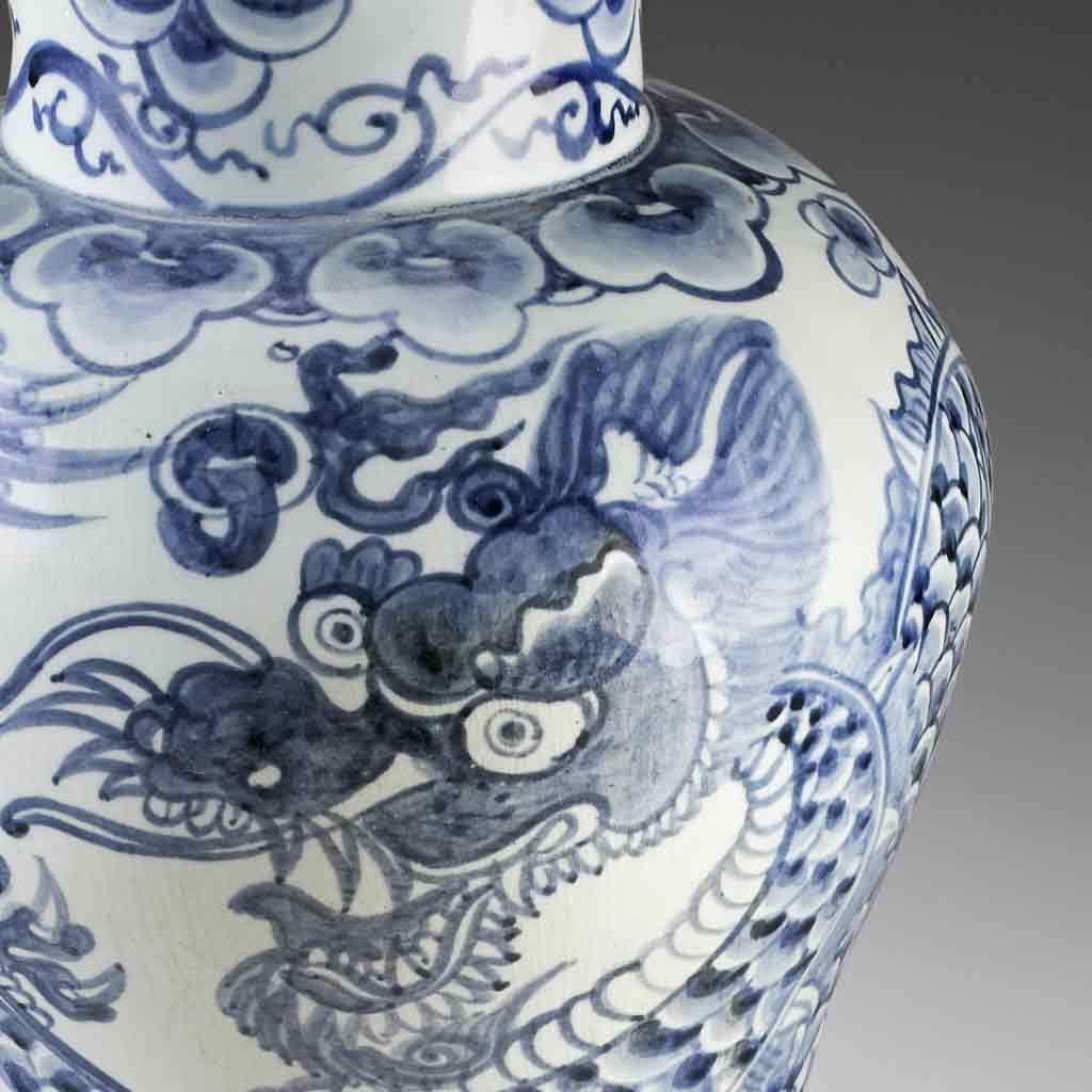 Dragon jar, late 19th century