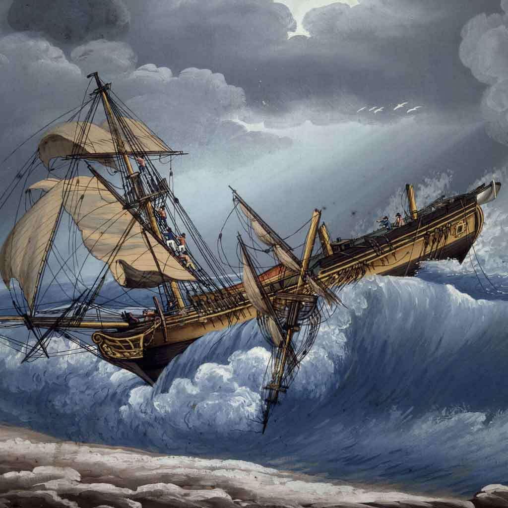 Captain Cook Cast a Way on Cape Cod, 1802