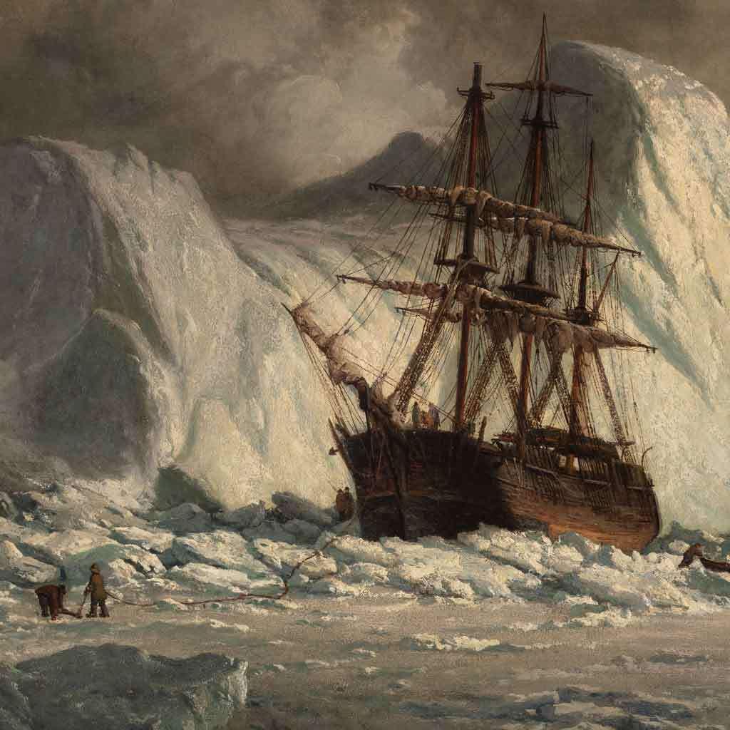 Icebound Ship, about 1880