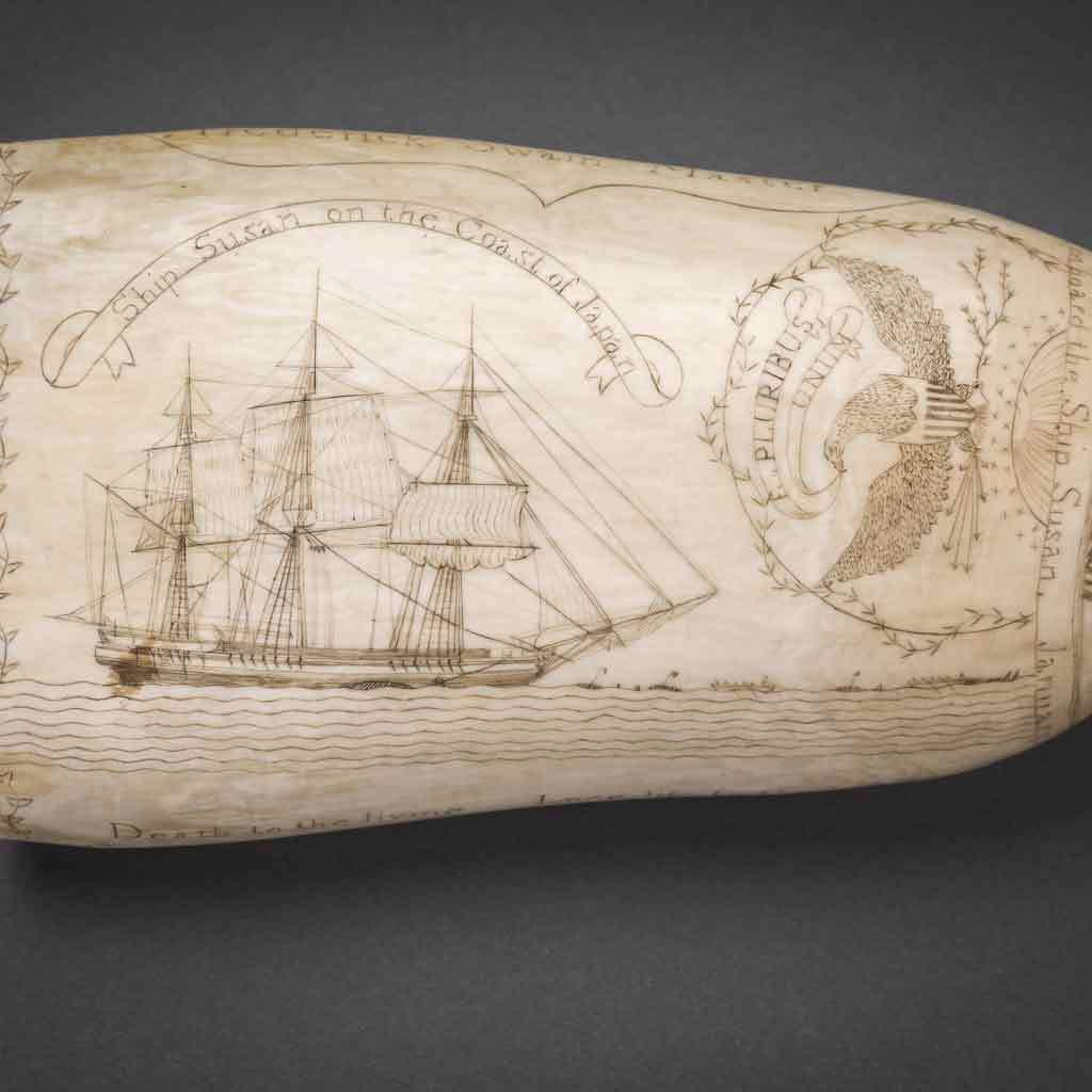 Scrimshaw of the ship Susan, 1829