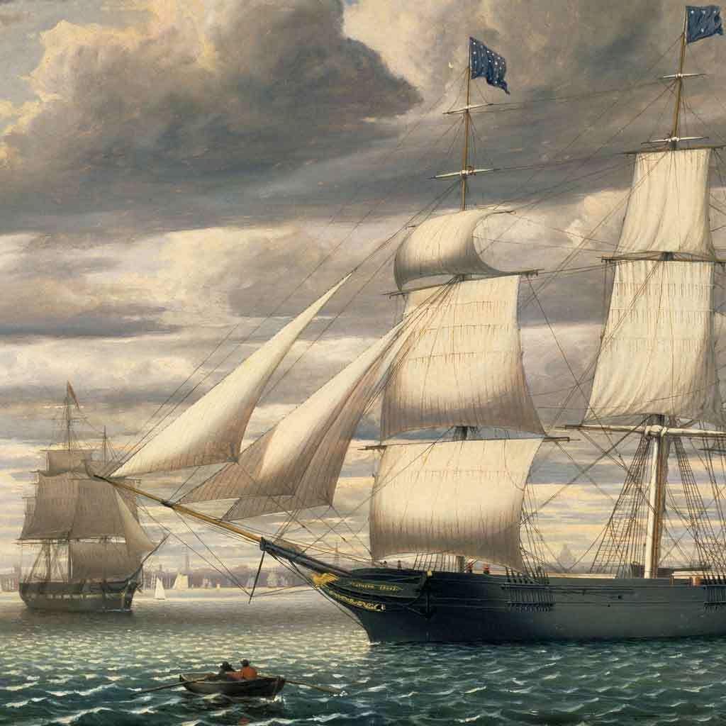 Ship Southern Cross in Boston Harbor, 1851