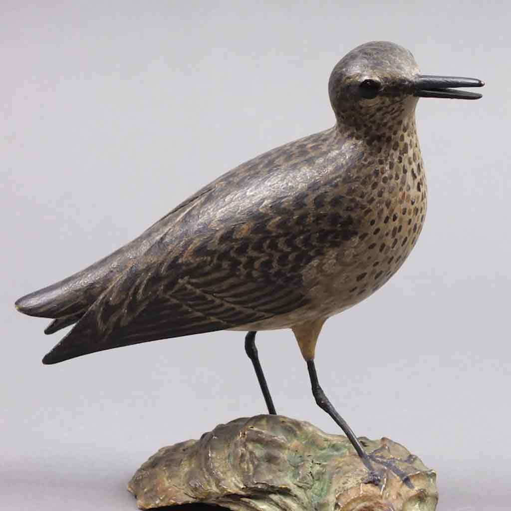 Decorative carving of a semipalmated sandpiper