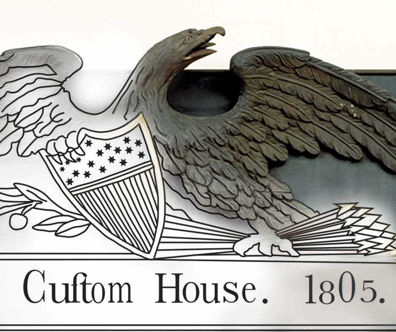Salem Custom House Sign
