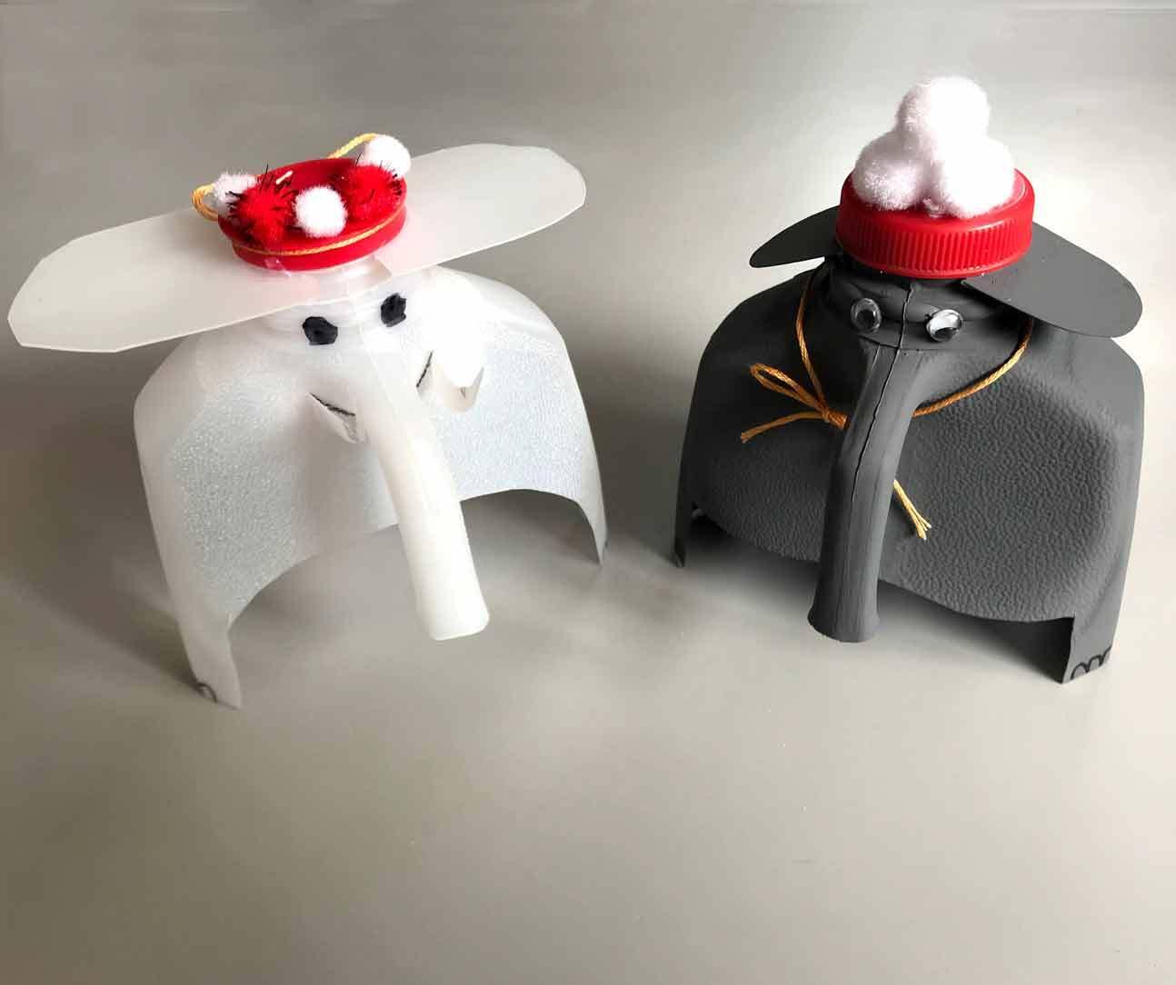 Make a milk jug elephant