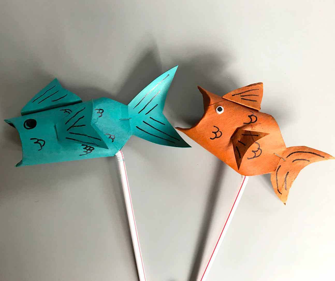 Create a fish puppet