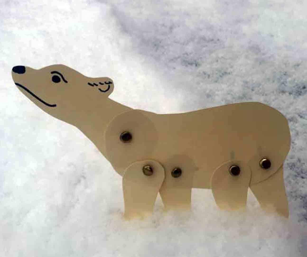 Drop-in Art Making Polar Bear Puppets