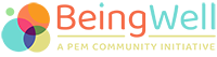 Being Well logo, A PEM community initiative