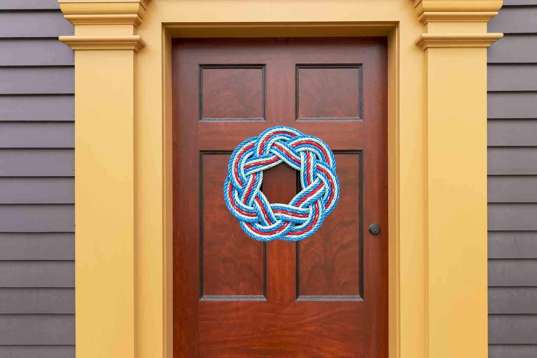 Wreath on the Daniel Bray front door