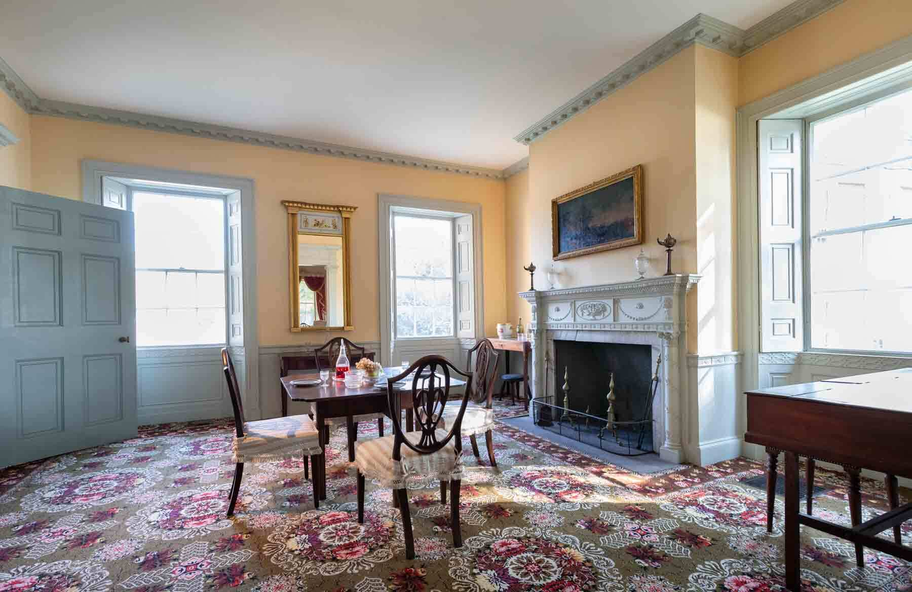 Interior view of the Gardner Pingree house, a sitting room