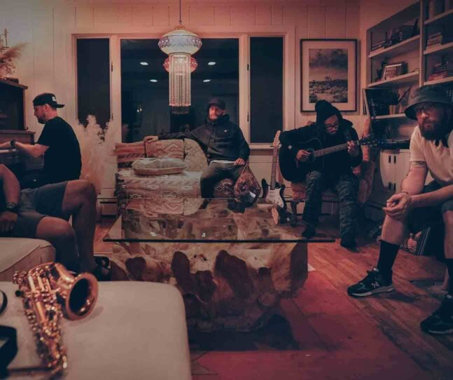 Hip-hop band STL GLD documents songwriting session in historic Salem house