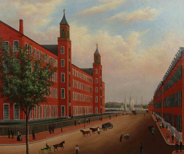 Naumkeag Steam Cotton Mill, Salem, Mass. Oil on canvas. 1850