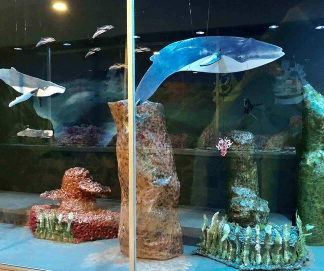 Salem artist Meg Nichols turns Salem windows into watery world