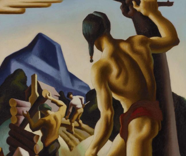 Benton painting Native Americans