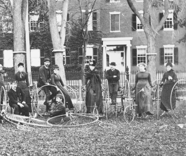 Ladies North Shore Tricycle Tour on the Salem Common, 1885