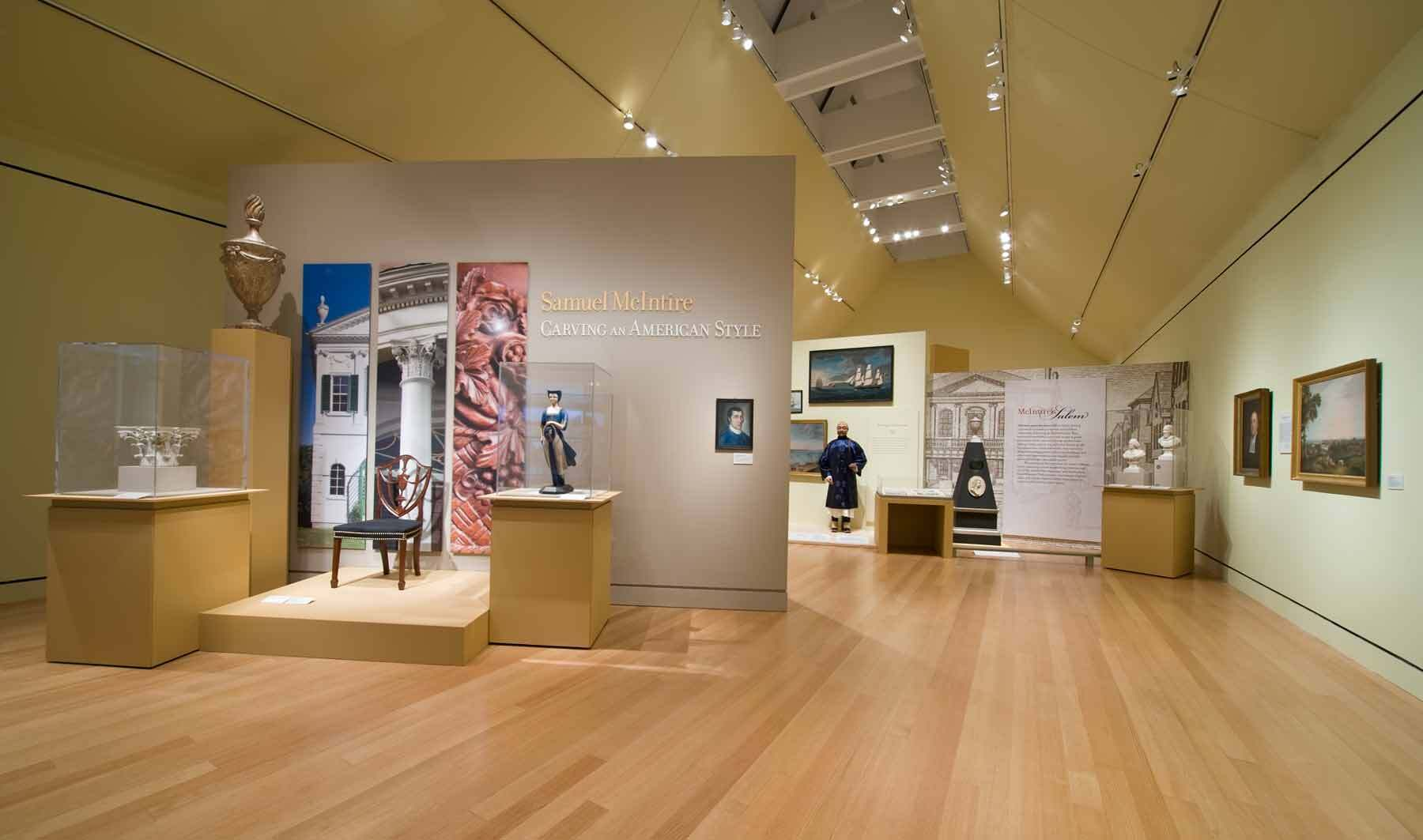 First major exhibition of Samuel McIntire's carving.