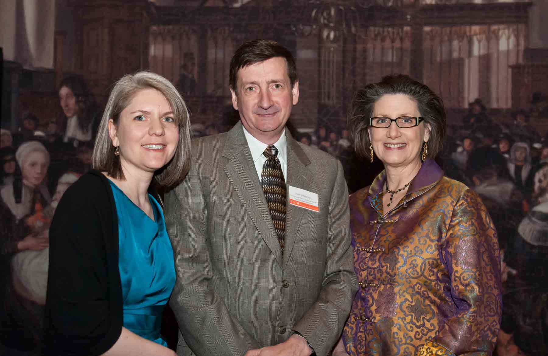 Dean Lahikainen with PEM Associate Curator Sarah Chasse (left) and his wife, Betsy.