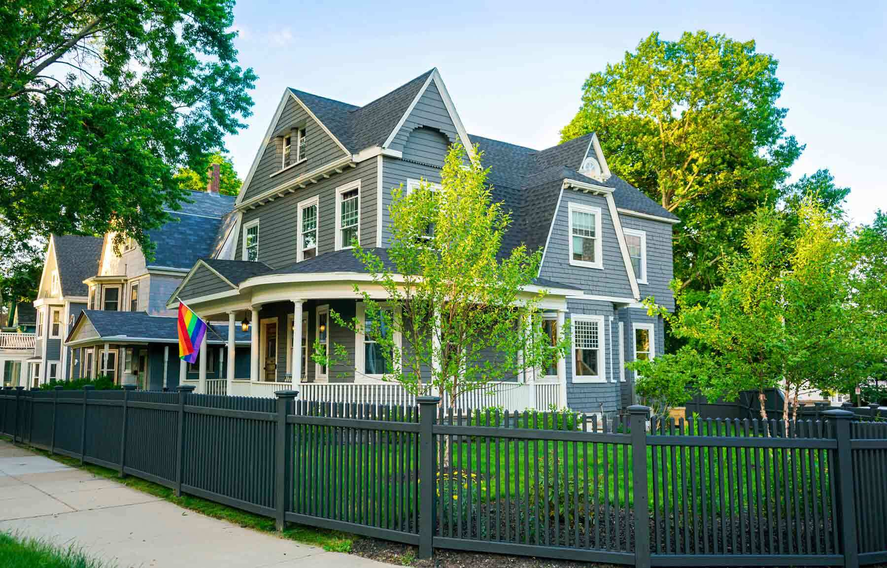 The St. Russell's 1893 Queen Anne Victorian home in Dorchester, Mass.