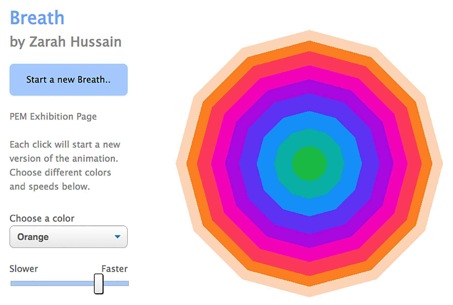 Zarah Husain Breath interactive
