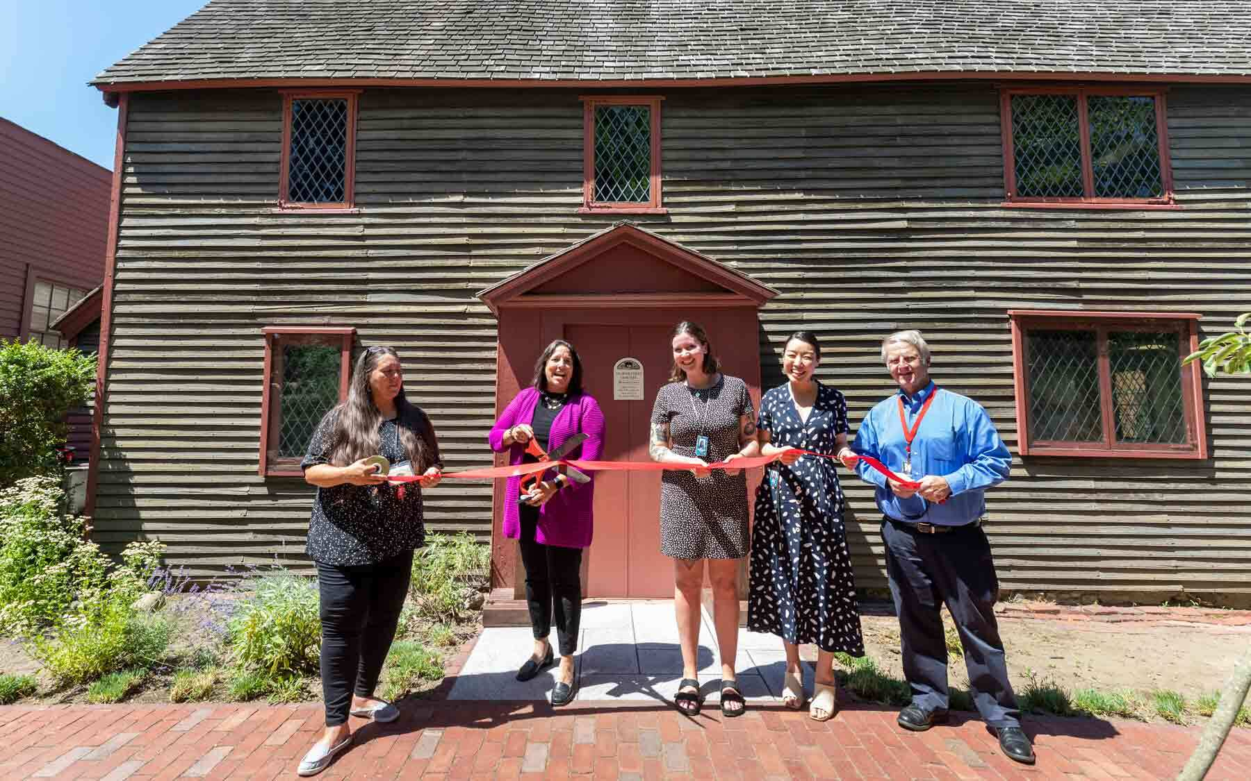 Mayor Kim Driscoll and representatives from the City and PEM cut the ribbon on the new Welcome Center on June 30. Photo by Kathy Tarantola/PEM.