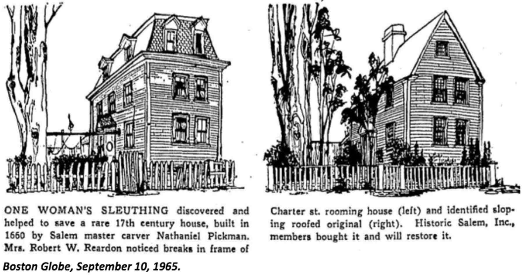 Pen drawings of two houses
