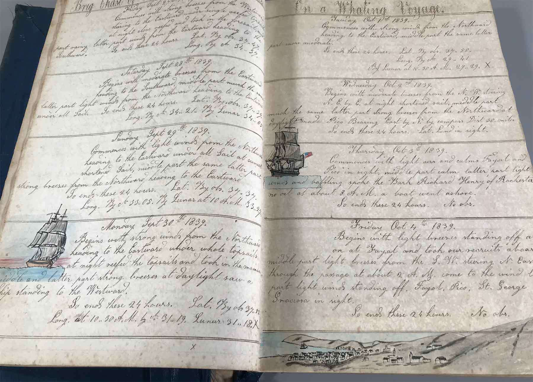 handwritten Logboook journal