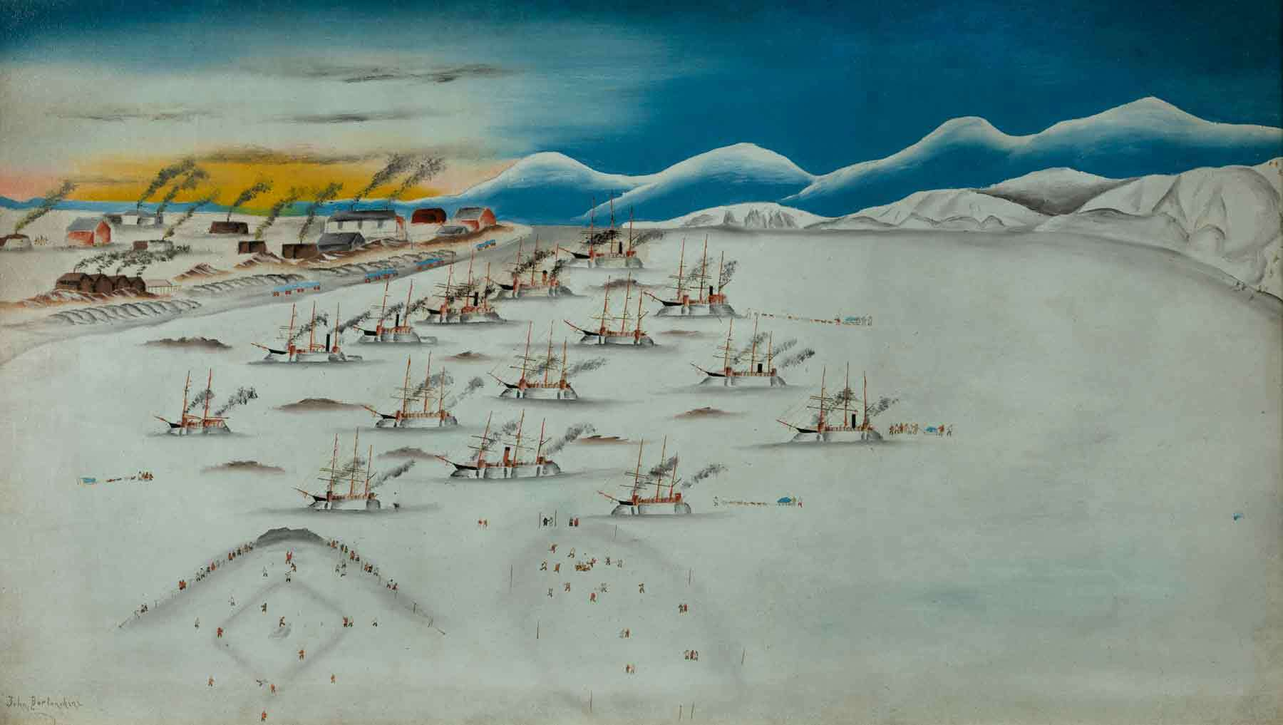 Michele Felice Cornè (1752-1845). Ship America on the Grand Banks, about 1800. Oil on canvas. Gift of Mrs. Francis B. Crowninshield, 1953. © 2014 Peabody Essex Museum