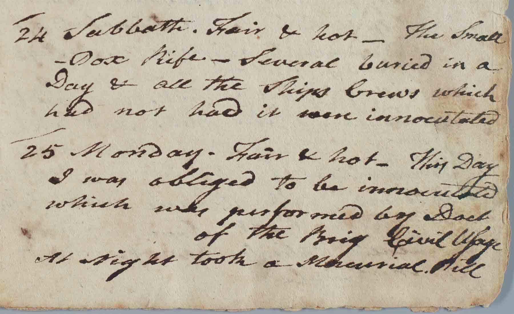 From Oliver Cromwell (Brigantine) Logbook, 1777