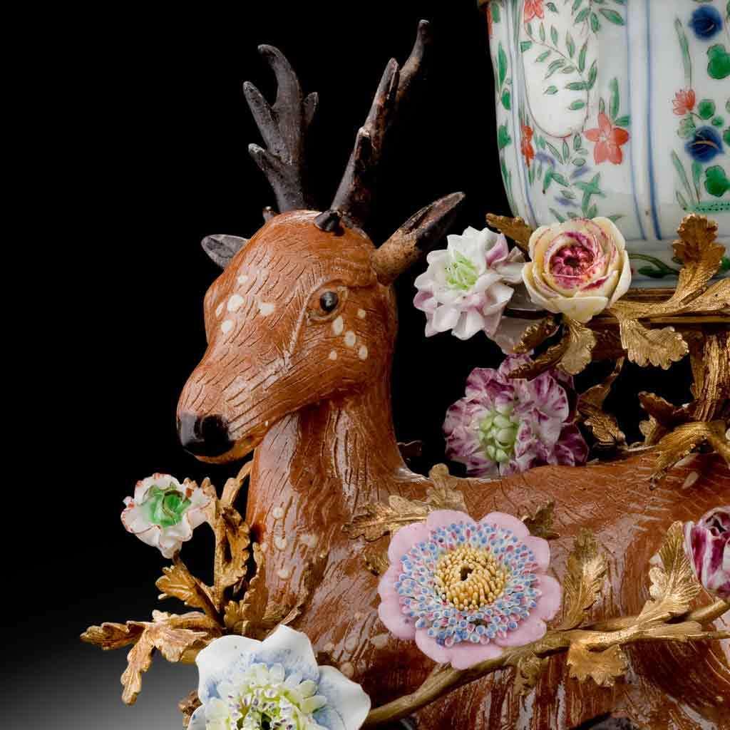 Potpourri vase, assembled about 1750