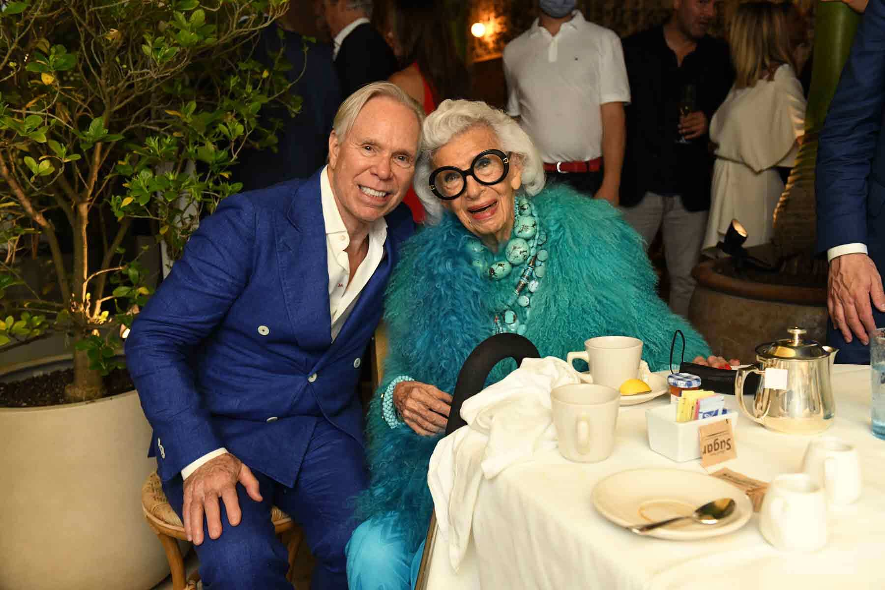 Iris Apfel and Tommy Hilfiger