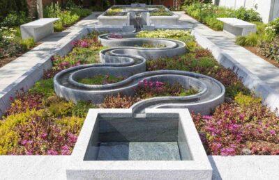 New museum garden