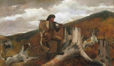 Winslow Homer, American, 1836–1910, A Huntsman and Dogs, 1891