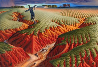 Alexandre Hogue, American, 1898 - 1994, Crucified Land, 1939