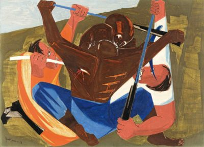 Panel 27, 1956, from Struggle: From the History of the American People, 1954–56.