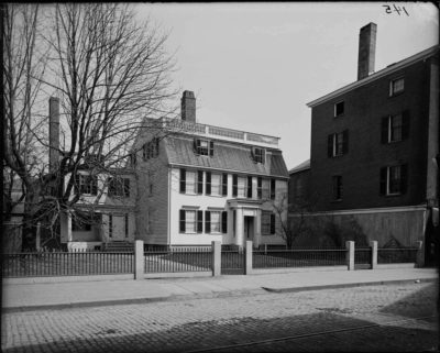 """Mary Ann Sanders house, Salem, where Alexander Graham Bell developed the telephone,"" Cousins collection, on Digital Commonwealth."