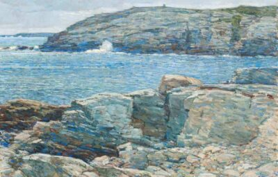 Childe Hassam (1859–1935). East Headland, Appledore, Isles of Shoals, 1911. Oil on canvas 30 × 36 in. (76.2 × 91.4 cm). Gift of Peter S. Lynch in memory of Carolyn A. Lynch, 2018. 2018.72.1. © 2018 Peabody Essex Museum.