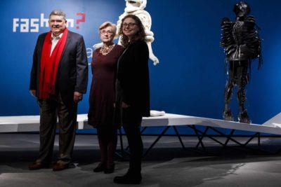 From left: Peabody Essex Museum director Dan Monroe, deputy director Lynda Roscoe Hartigan, and neuroscientist Tedi Asher.