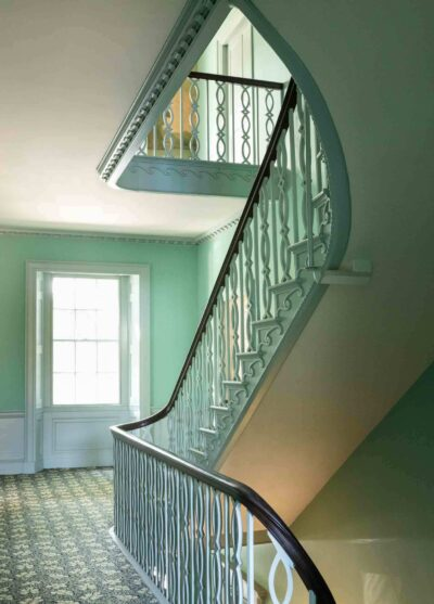 Interior staircase of the Gardner-Pingree house
