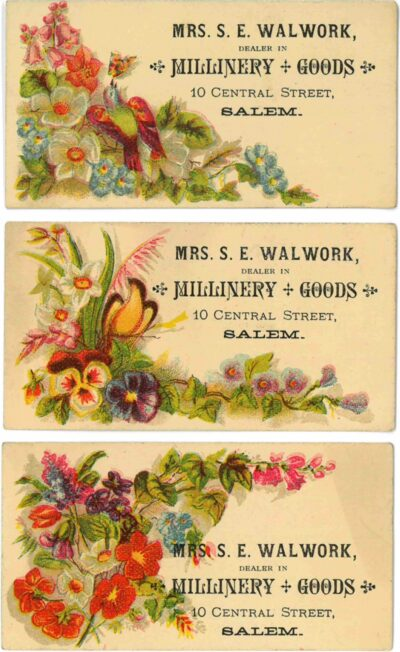 A set of trade cards