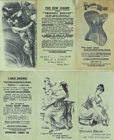 Advertisement for 'The Tricora Relief' corset