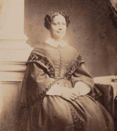 Photographer in the United States. Sarah Parker Remond, about 1865. Albumen print. 2 3/4 x 2 3/16 inches (6.985 x 5.493 cm) Gift of Miss Cecelia R. Babcock. PH322. Courtesy Peabody Essex Museum. Photograph by Kathy Tarantola.