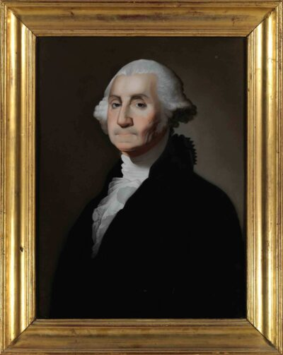 Artists in Guangzhou, China. George Washington, 1800–1815, after a painting by Gilbert Stuart, reverse glass painting