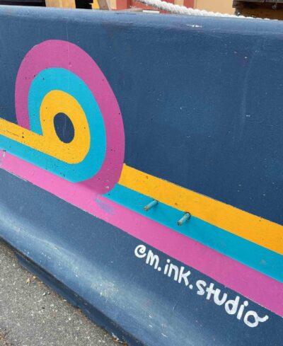Barrier design by Meg Nichols.