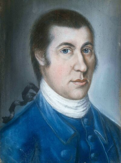 Attributed to Samuel Blyth, Portrait of Samuel McIntire, about 1782. Pastel on paper. Gift of the Estate of Mr. George W. Low, 1938, 123420. Photo by Jeffrey Dykes.