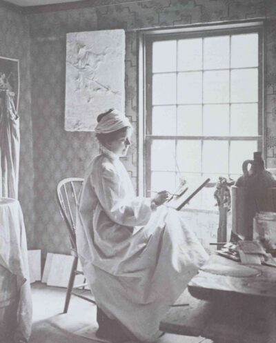 Photographer in Salem, Massachusetts, Sarah W. Symonds in her studio in the John Ward House, 1912–21, Phillips Library, Anonymous gift, 1985, MSS 0.202.