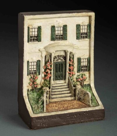 Sarah W. Symonds, The Pingree House in Salem, bookend, 1930. Plaster and paint, Gift of Henry Rybicki, 1982, 135498. Photo by Kathy Tarantola/PEM.